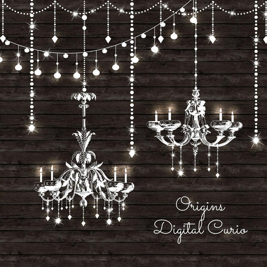 Chandeliers and String Lights Vector Clipart by OriginsDigitalCurio on DeviantArt
