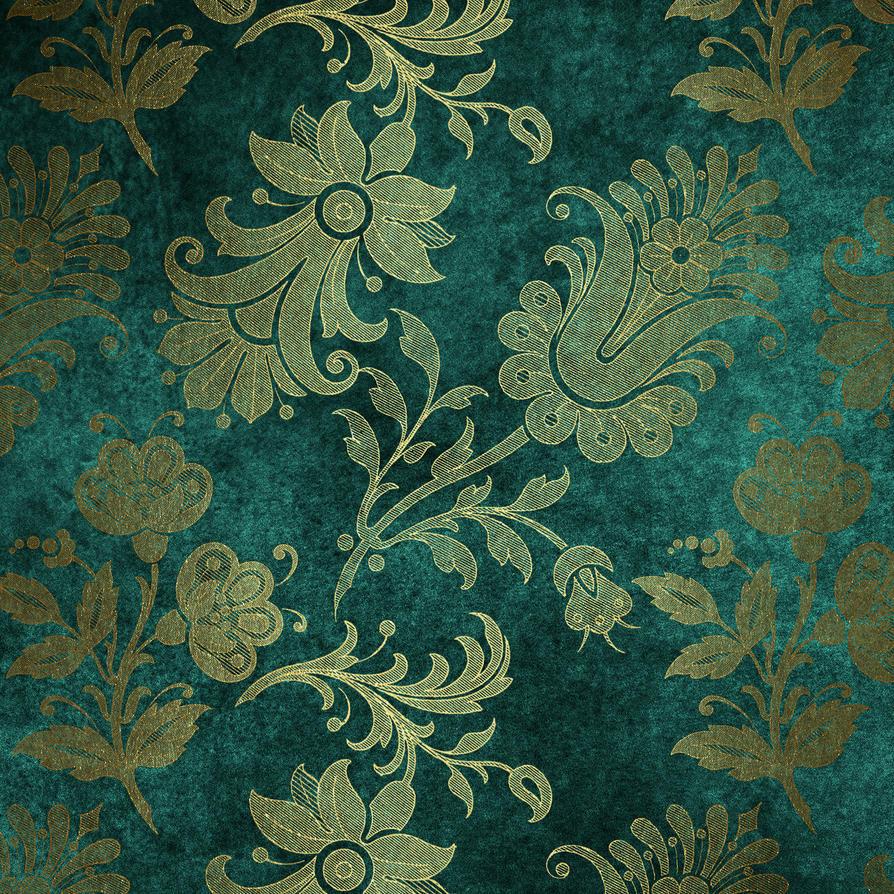 Emerald Floral Velvet Background 0000 8 By