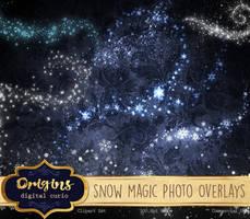 Snow Magic PNG Overlays