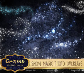 Snow Magic PNG Overlays by DigitalCurio