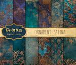Ornament Patina Digital Paper