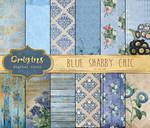 Blue Shabby Chic Digital Paper