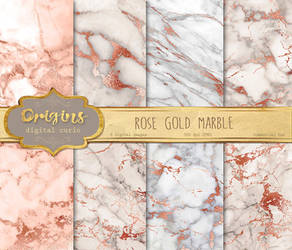 Rose Gold Marble Textures by DigitalCurio