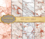 Rose Gold Marble Textures