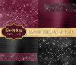 Diamond Burgundy and Black Metallic Textures