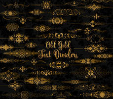 Old Gold Text Dividers clipart