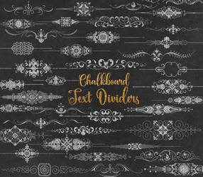 Chalkboard Text Dividers Clipart