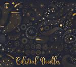 Celestial doodles clipart