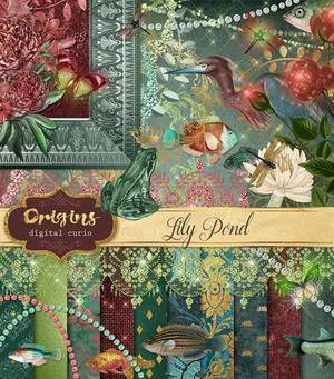 Lily Pond Digital Scrapbooking Kit