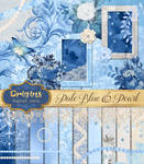 Pale Blue and Pearl Digital Scrapbooking Kit