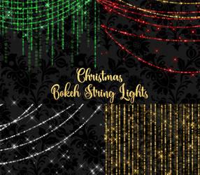 Christmas Bokeh String Lights by DigitalCurio