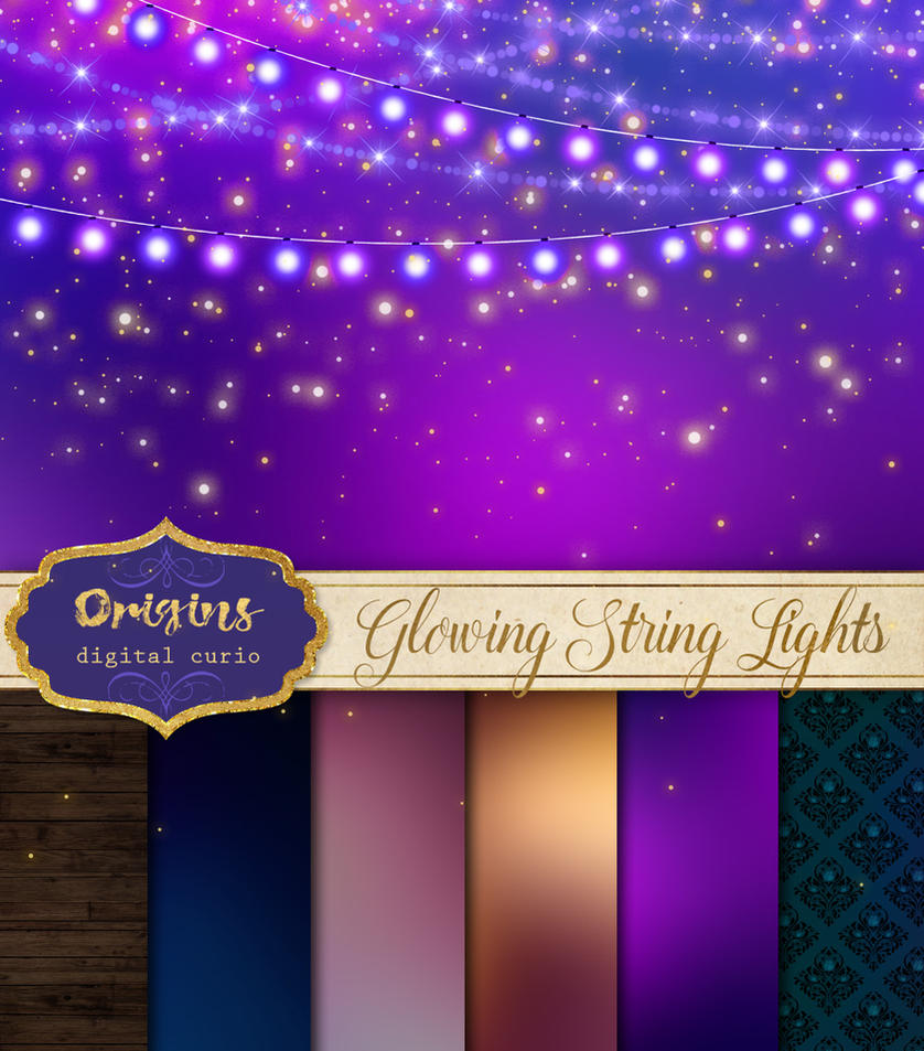 Glowing String Lights Clipart By DigitalCurio
