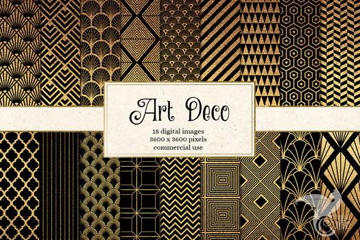 Art Deco Digital Paper