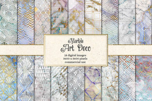 Marble Art Deco Digital Paper