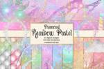 Diamond Rainbow Pastel Digital Scrapbooking Kit