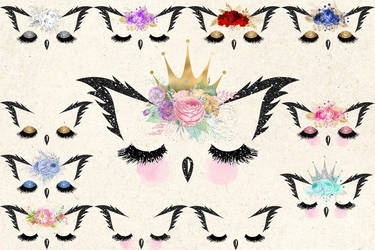 Owl Faces Clipart by DigitalCurio