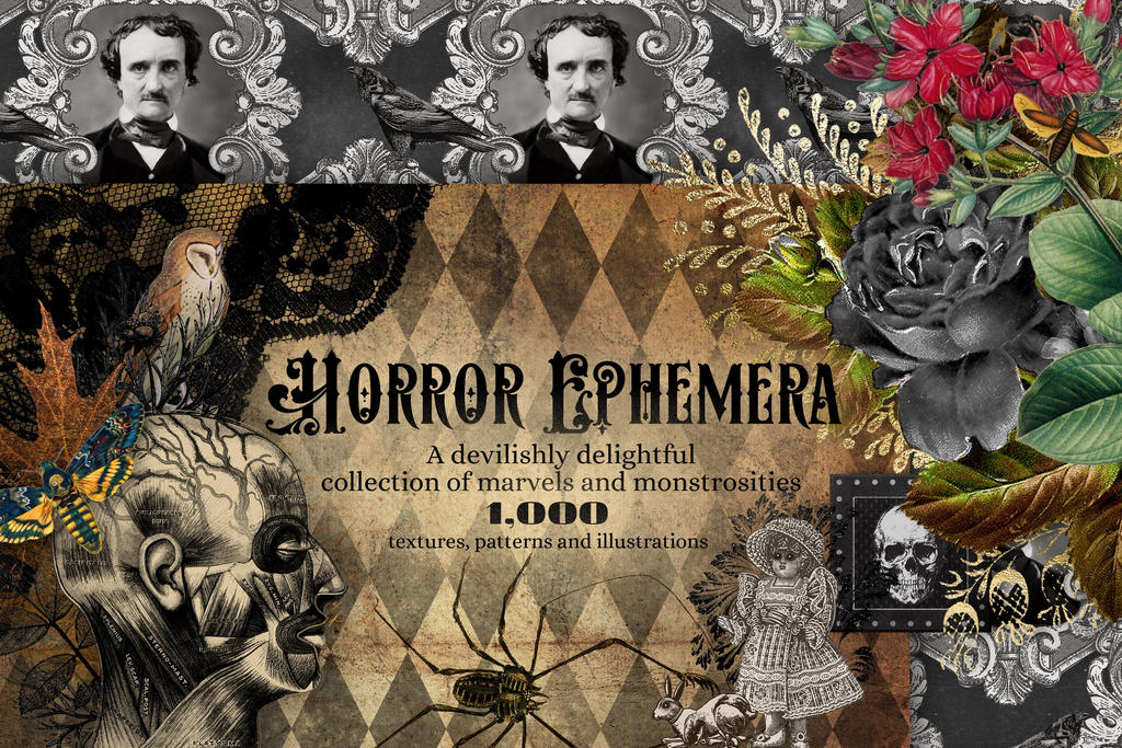 The Horror Ephemera Graphics Bundle by DigitalCurio