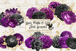 Black Purple And Gold Floral Bouquets