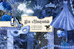 Blue Masquerade Digital Scrapbook Kit