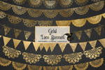 Gold Lace Banners