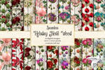 Holiday Floral Wood
