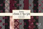 Marsala And Rose Gold Digital Paper