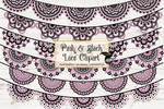 Pink And Black Lace Clipart
