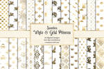 White And Gold Princess Digital Paper