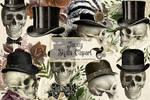 Fancy Skulls Clipart