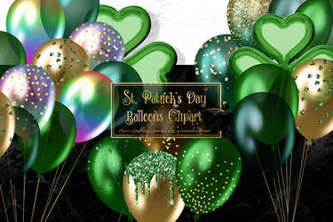 St Patricks Day Balloons Clipart