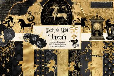 Black And Gold Unicorn Kit
