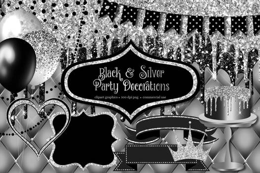 Black And Silver Party Decorations