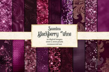 Blackberry Wine Digital Paper