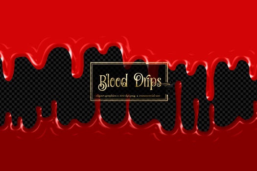Blood Drips Clipart