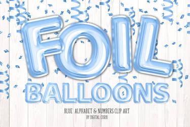 Blue Foil Balloon Alphabet