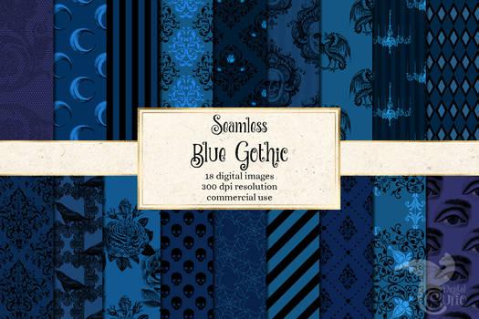 Blue Gothic Digital Paper