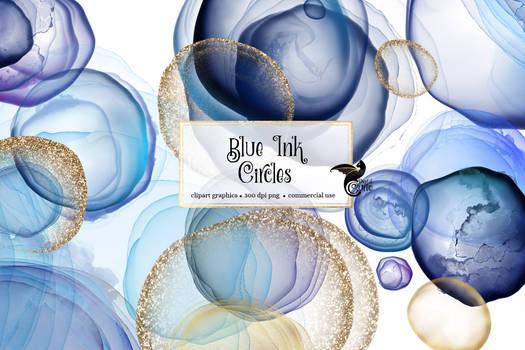 Blue Ink Circles
