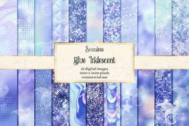 Blue Iridescent Textures