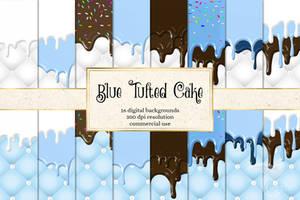 Blue Tufted Cake