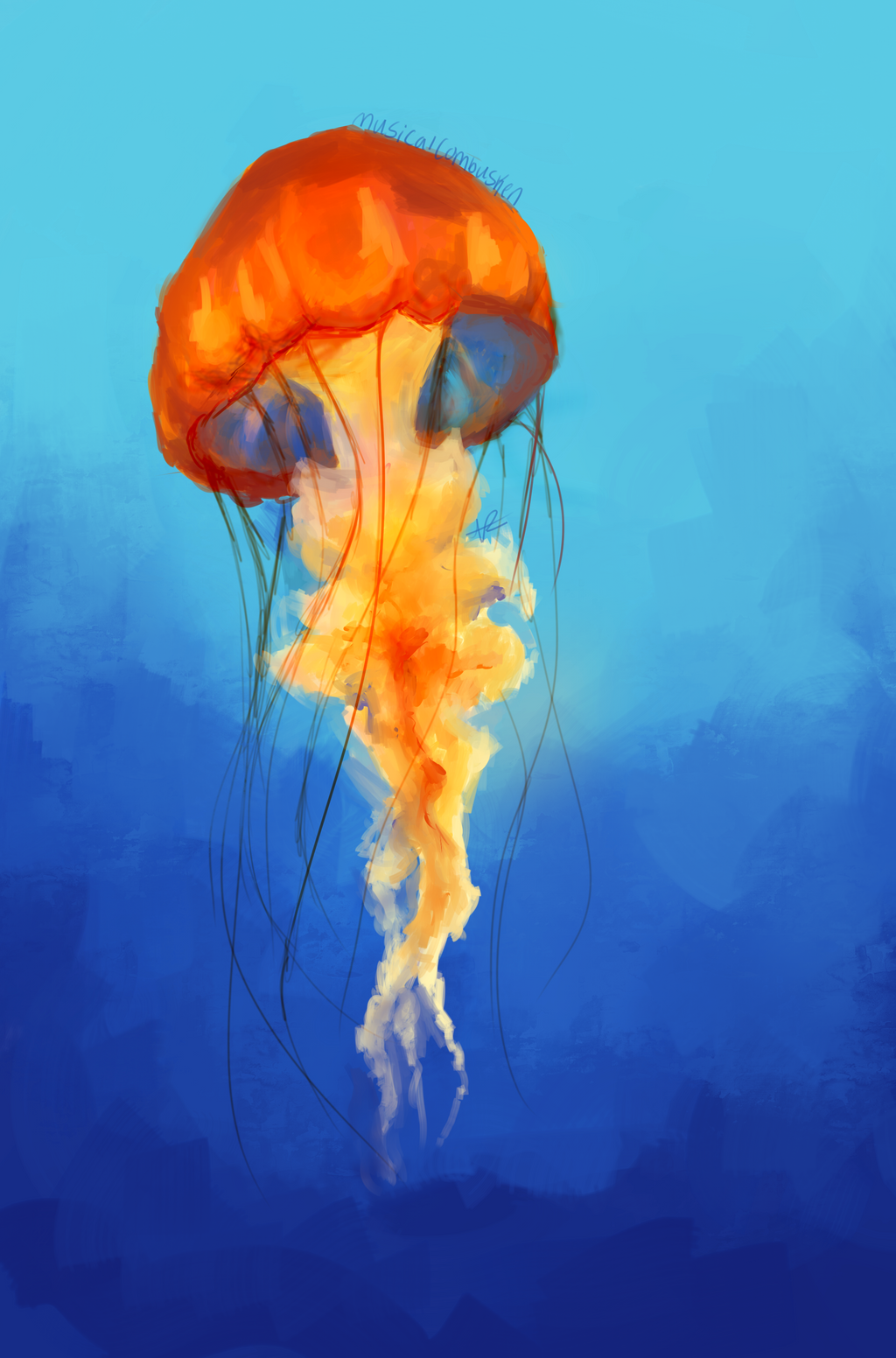 jellyfish by musicalcombusken on deviantart ForJelly Fish Painting