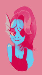 Undyne palette doodle by MusicalCombusken