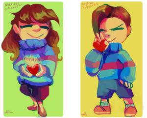 Katie And Dylan as Frisk