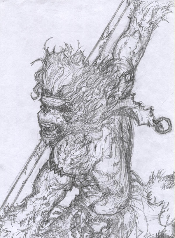 This is an image of Delicate Sun Wukong Drawing