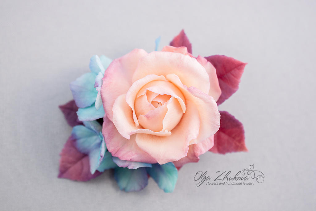 Flowers from a cold porcelain by polyflowers on DeviantArt