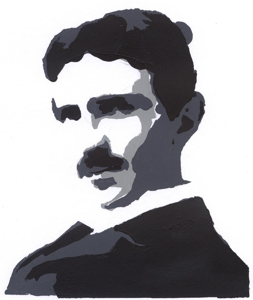 Nikola Tesla Wallpapers: Nikola Tesla Stencil By Gyerase On DeviantArt