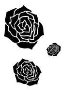 Screen Print Roses by gyerase