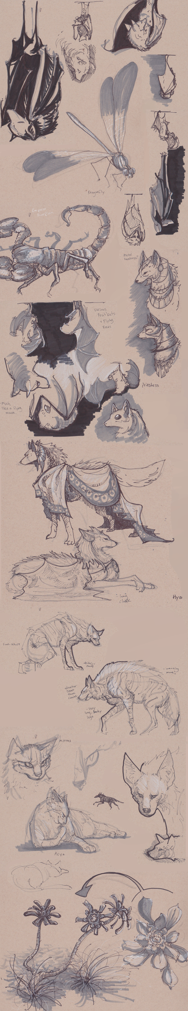 Sketchdump by BandanaChick