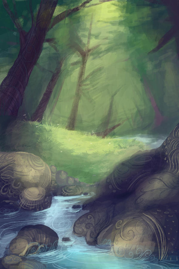 Forest Speedpaint by BandanaChick