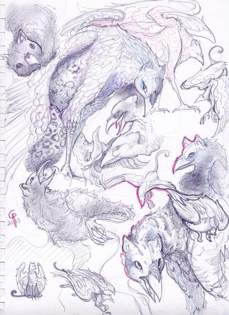 Griffon Commission by BandanaChick