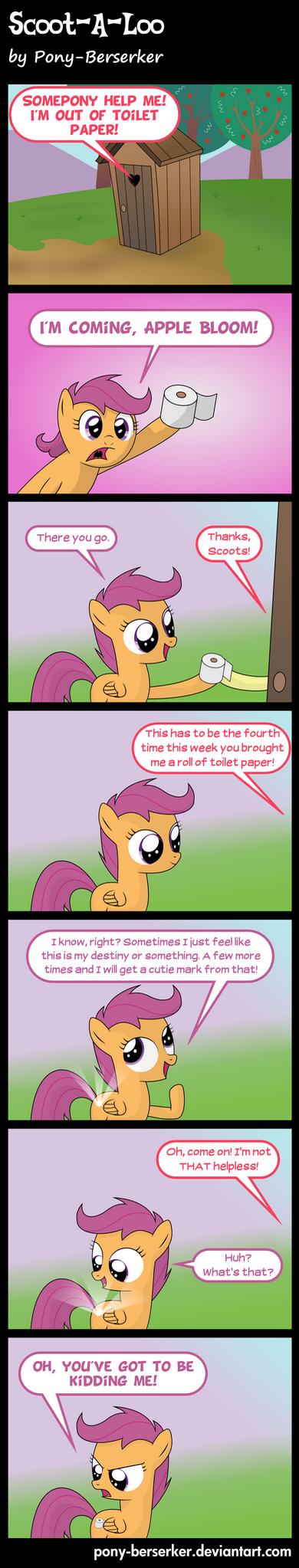 Scoot-A-Loo by Pony-Berserker